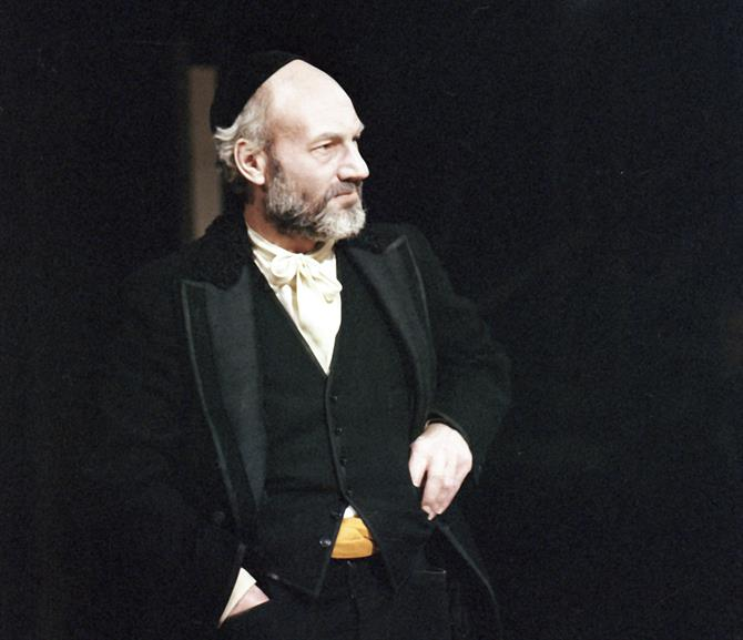 The Merchant of Venice, 1978,  directed by John Barton: Patrick Stewart as Shylock.