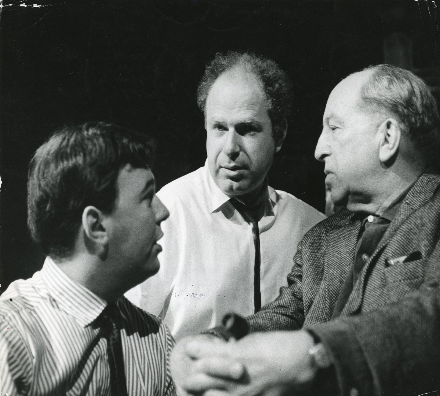 Peter Brook Hall And Michel Saint Denis On The Set Of A Midsummer Nights Dream In 1962