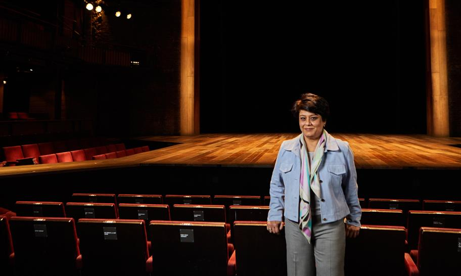 Shriti Vadera in the Royal Shakespeare Theatre