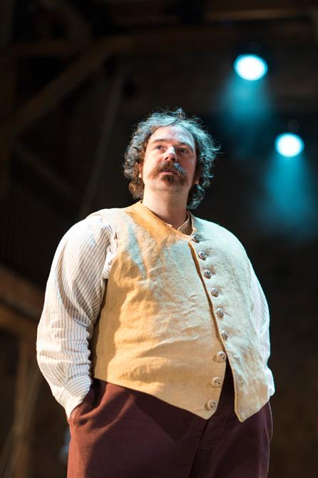 Rufus Hound as Sancho Panza in Don Quixote