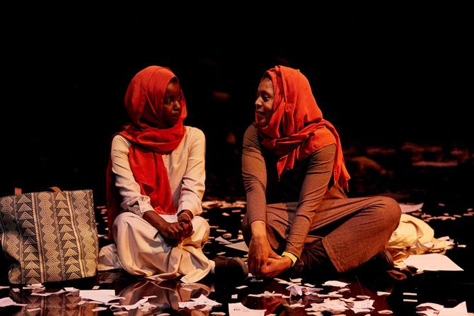 Donna Banya as Amna and Bianca Stephens as Houida in Always Orange