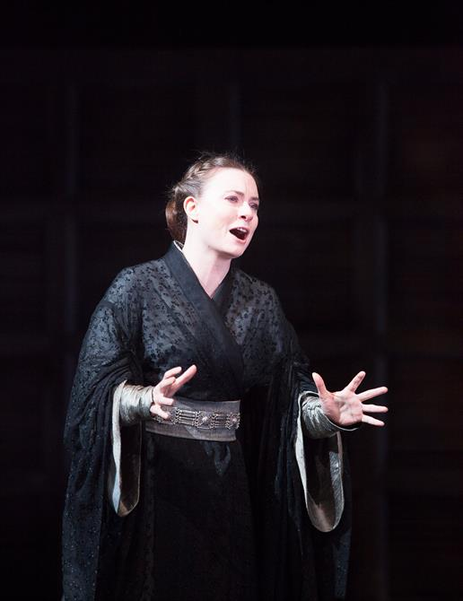Jennifer Kirby as Lady Percy in Henry IV Part II.