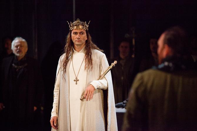 David Tennant as Richard II in Richard II.