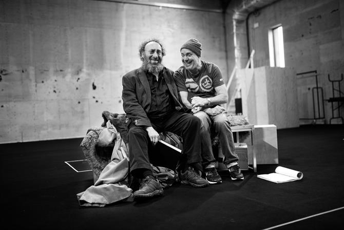Antony Sher and Graham Turner in rehearsal for King Lear