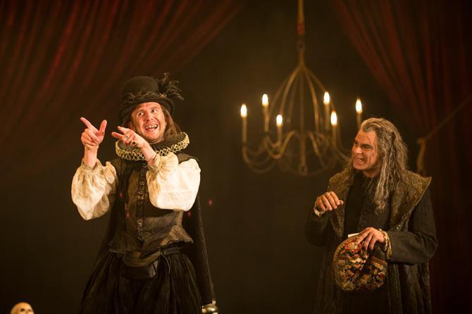 Joshua McCord as Dapper and Mark Lockyer as Subtle in The Alchemist