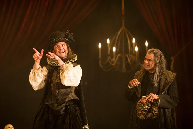 Joshua McCord as Dapper and Mark Lockyer as Subtle in The Alchemist