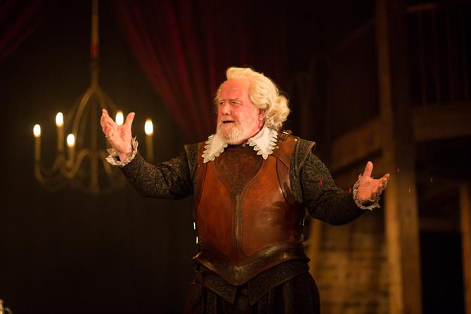 Ian Redford as Sir Epicure Mammon in The Alchemist