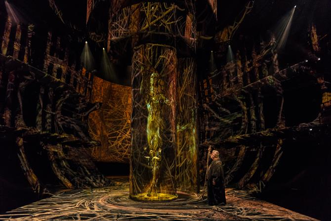 Ariel and Prospero centre stage