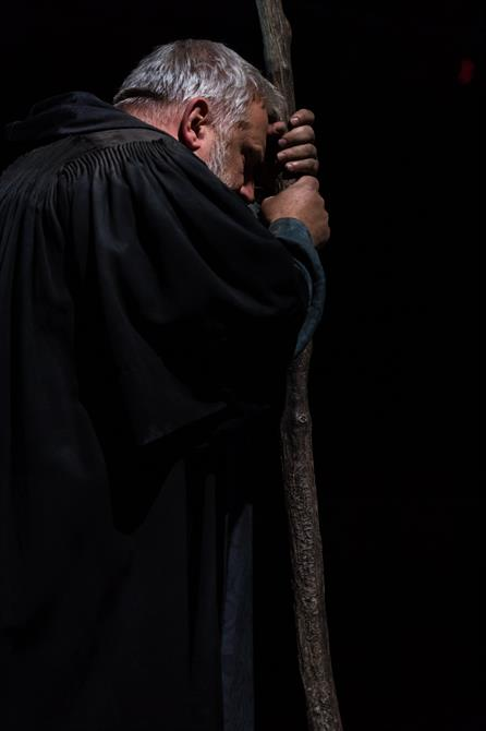 Prospero took with staff in hand