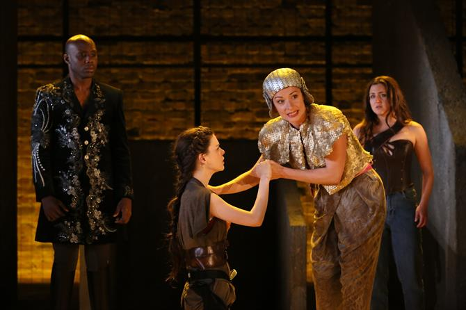 Chris Jack as Pirithous, Emma Noakes as Hecate, Frances McNamee as Emilia and Eloise Secker as Diana