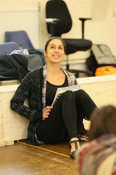 Danusia Samal in rehearsal for The Two Noble Kinsmen