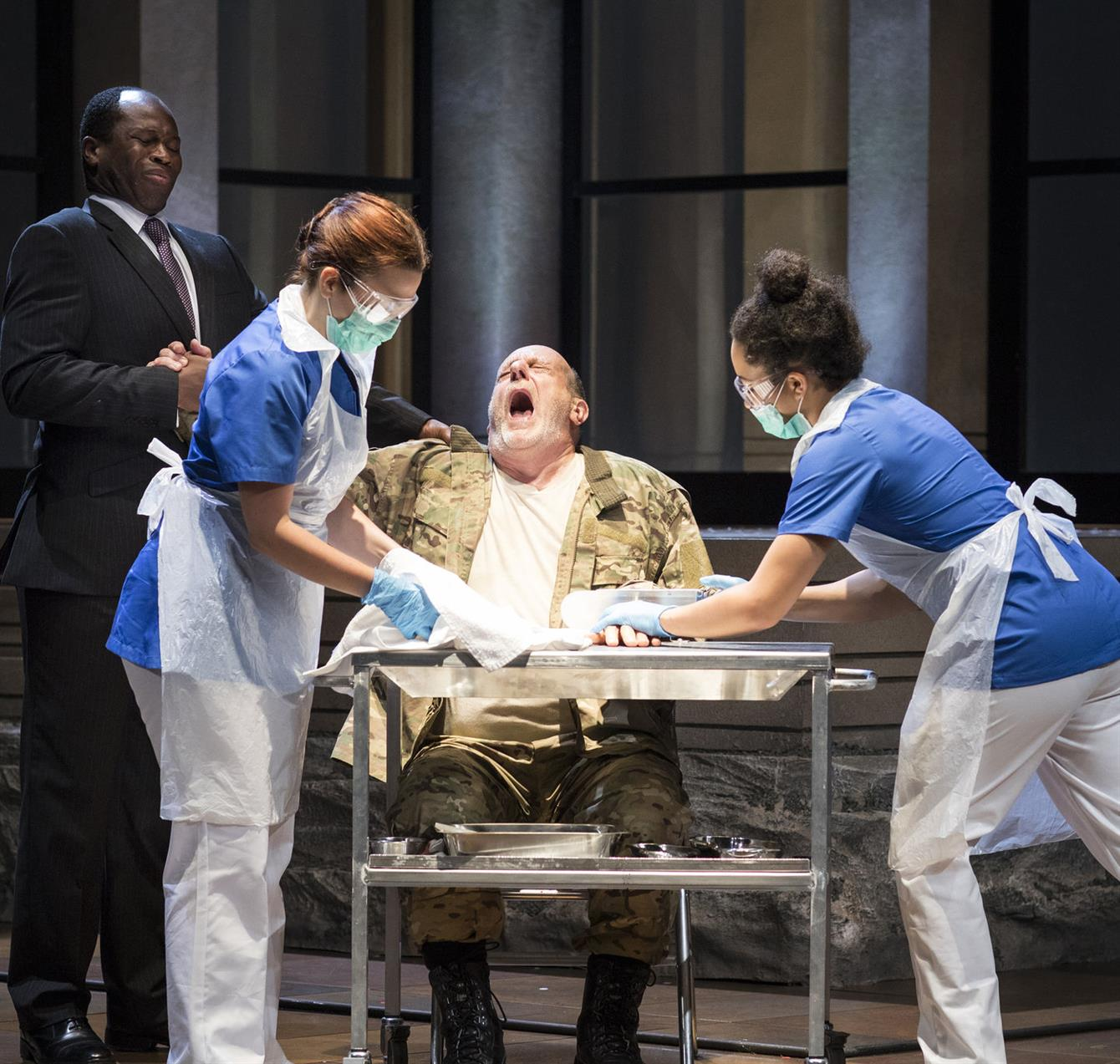 a review of the life of shakespearean titus andronicus Review: titus andronicus at the barbican december 7 - january 19 the bizarreness takes over from the brutality: blanche mcintyre's production can't balance the horror and the humour of shakespeare's bloodbath.