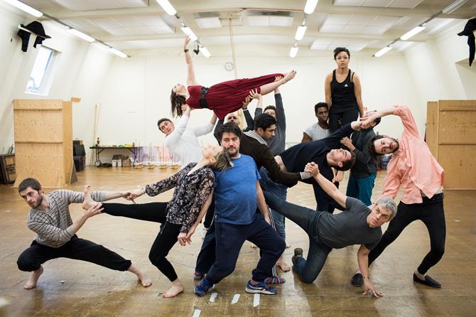 The Company in rehearsal for Antony & Cleopatra