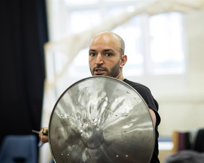 Waleed Elgadi with shield
