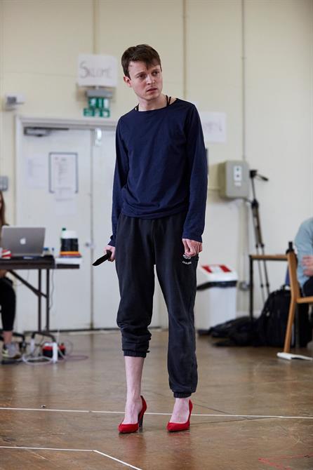 Matthew Tennyson wearing heels