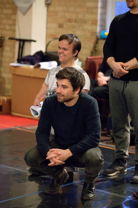 Pierro Niel-Mee and Ben Goffe in rehearsal for The Hypocrite