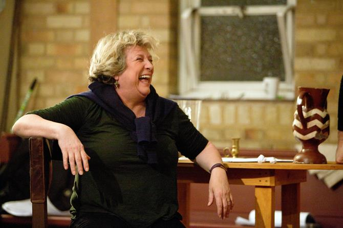 Caroline Quentin laughing