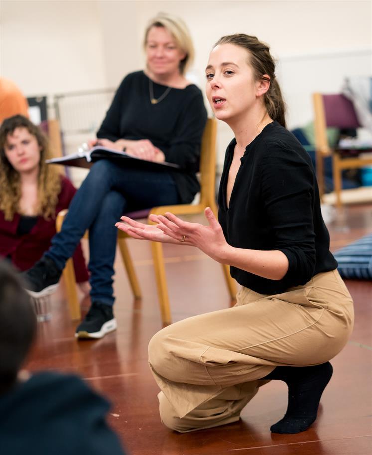 Kimberley Sykes directing int he rehearsal room