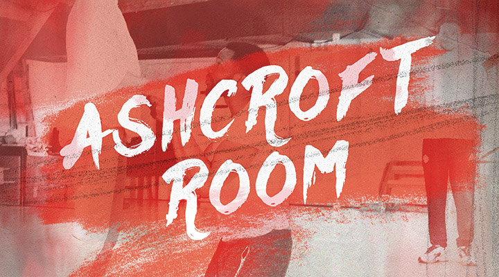 Ashcroft Room written on a red background with an image of the room behind it