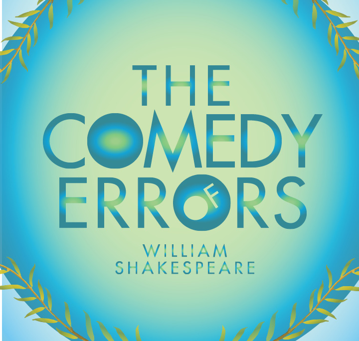 The Comedy of Errors William Shakespeare blue graphic