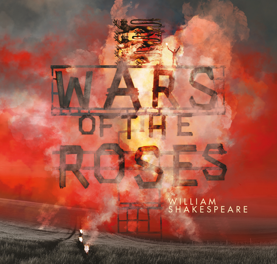 Wooden letters on fire spelling Wars of the Roses