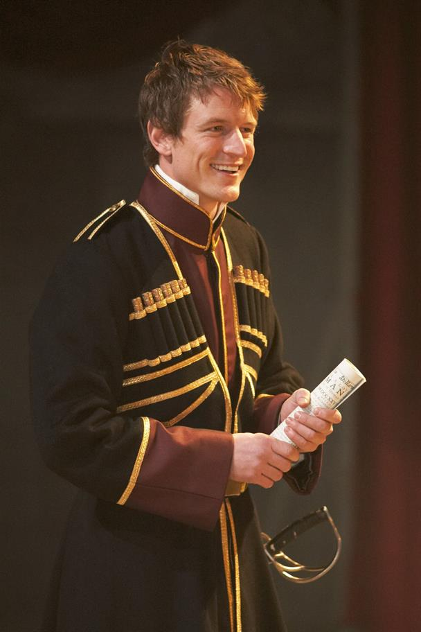 Production image of Edmund (Philip Winchester) in King Lear.
