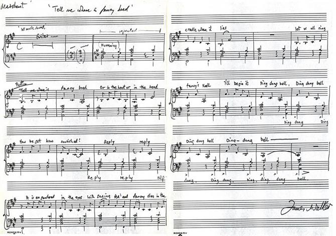 James Walker's music score for The Merchant of Venice 1978