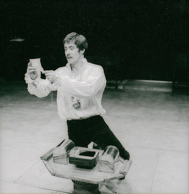 Bassanio (John Nettles) chooses his casket in The Merchant of Venice 1978