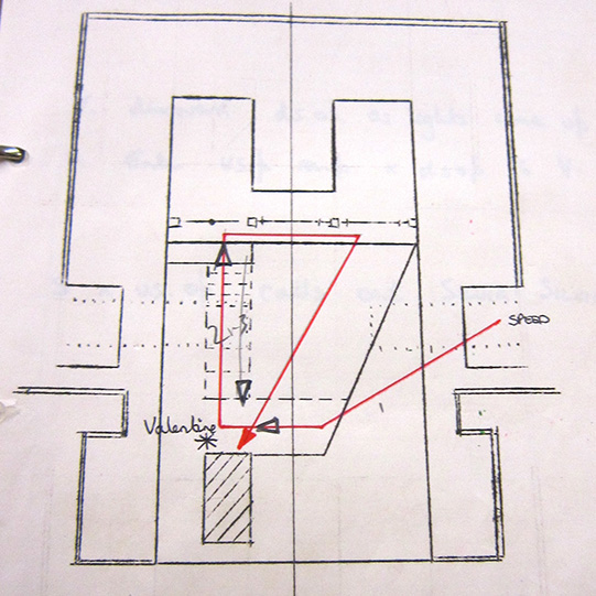 Ground plan of the Duke's Palace from The Two Gentlemen of Verona 1970