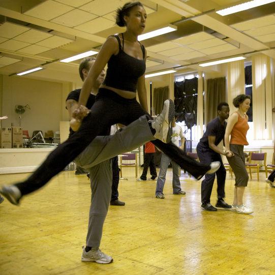 Rehearsing the dances in The Two Gentlemen of Verona 2004