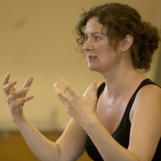 Director Fiona Buffini in rehearsal for the Two Gentlemen of Verona 2004