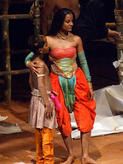 Titania (Archana Ramaswamy) with the Changling Boy (Ram Pawar).