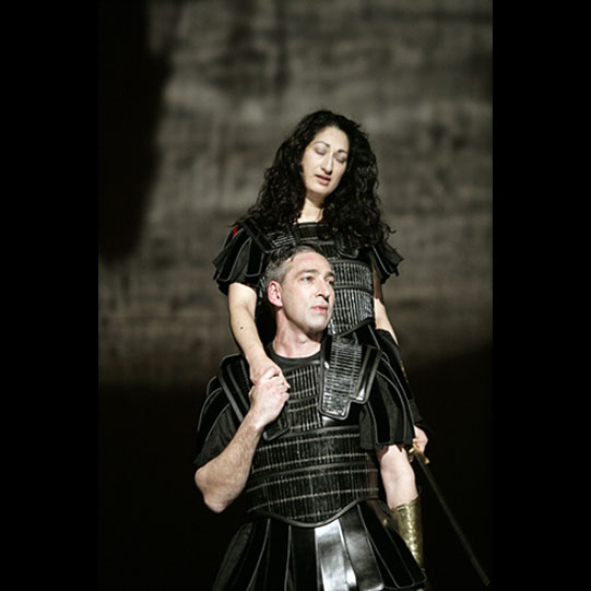 Theseus and  Hippolyta wearing armour