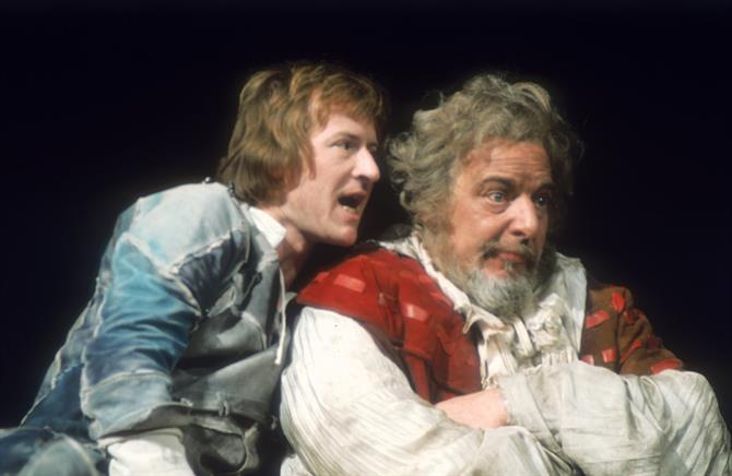 Prince Hal (Alan Howard) reveals Falstaff's (Hugh Griffith) lies in Henry IV Part 1 1975