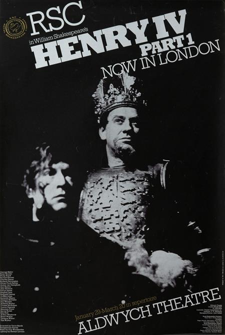 Henry IV Part 1 poster for Aldwych Theatre London 1976