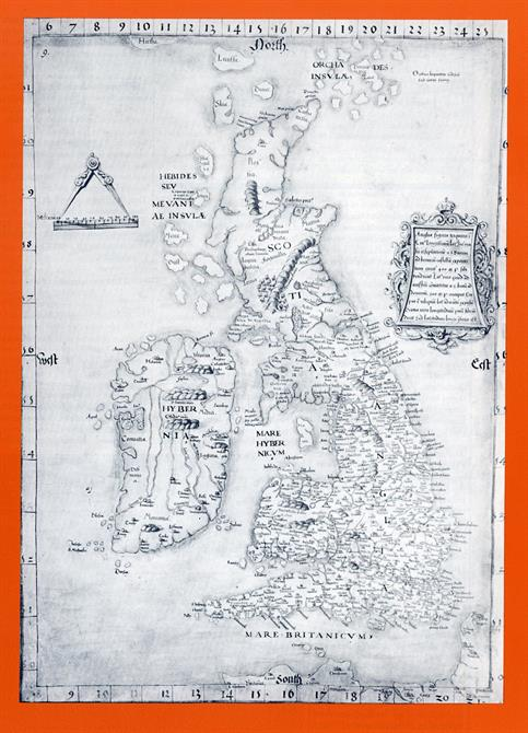 Programme for Henry IV Part 1 1982 at the Barbican Theatre showing the Cotton Map