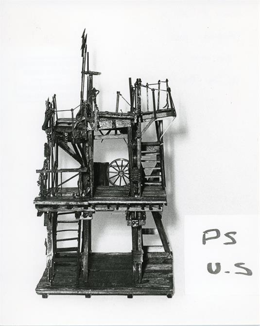 John Napier's set model for Henry IV part 1 1982 at the Barbican Theatre