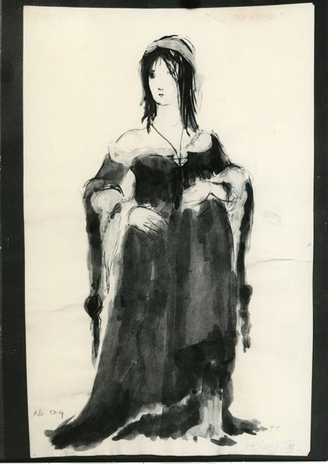 Costume design for Doll Tearsheet in Henry IV Part II 1964