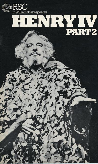 Aldwych Theatre programme for Henry IV Part II 1976