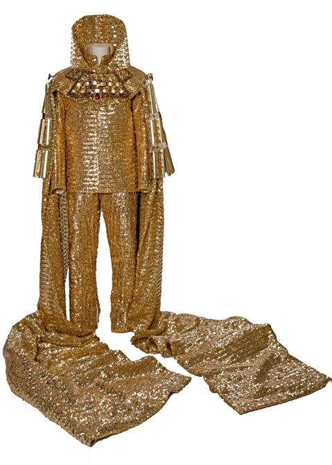 Golden coronation costume worn by Alan Howard as Prince Hal/Henry V in Henry IV Part II 1975
