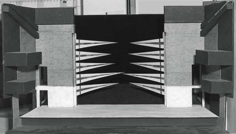 Designer's model box of the set for Act 2 Scene 2 of Henry V 1984