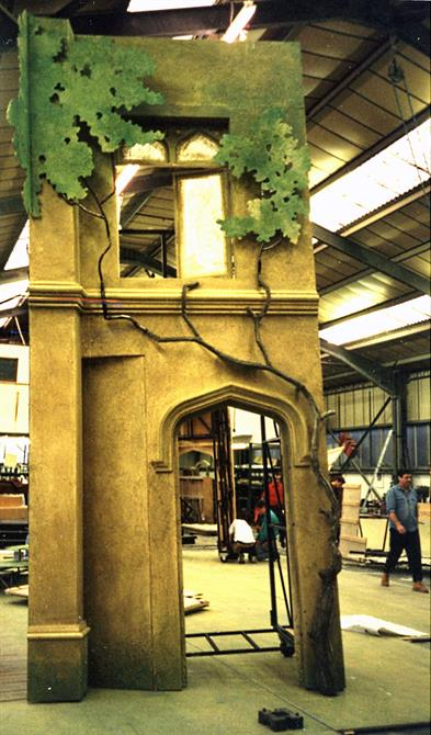 Part of the set under construction for Love's Labour's Lost 1993