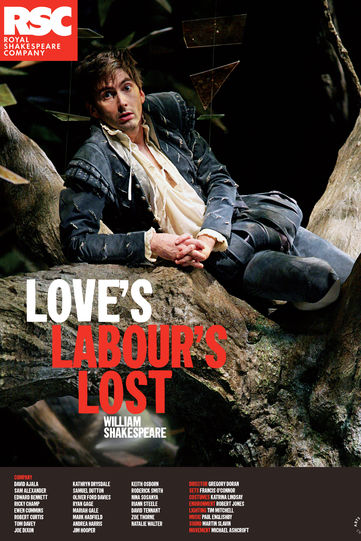 David Tennant as Berowne on Love's Labour's Lost 2008 poster