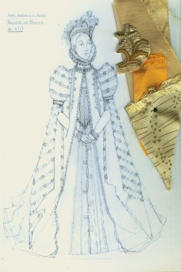 Costume design by Katrina Lindsay for the Princess (Mariah Gale) in Love's Labour's Lost 2008