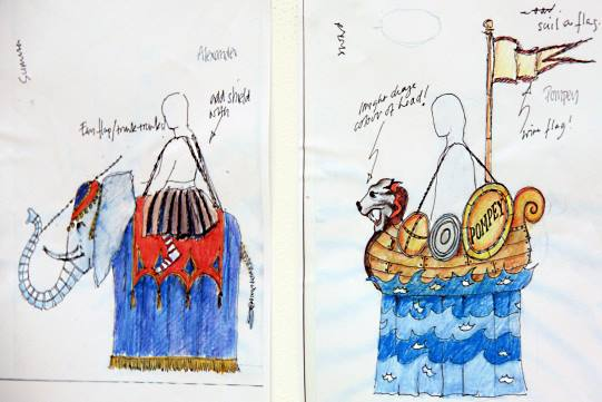 Katrina Lindsay's designs for the Nine Worthies pageant in Lovge's Labour's Lost 2008