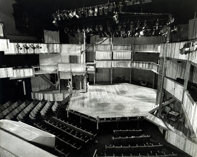 John Napier's 1976 galleried set for Much Ado About Nothing