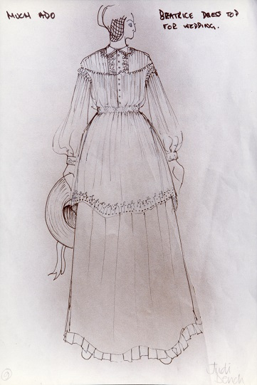 Costume design for the character of Beatrice