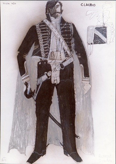 Costume design for the character of Claudio