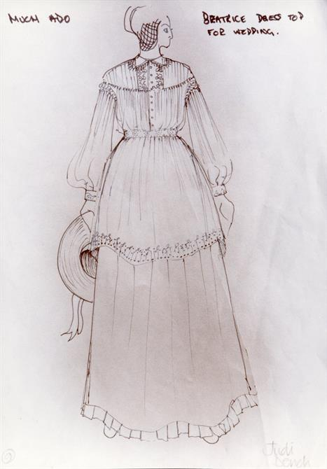 Wedding costume design for the character of Beatrice