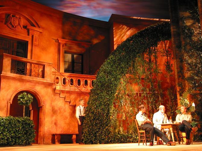 Benedick's gulling scene, set in an Italian-style garden